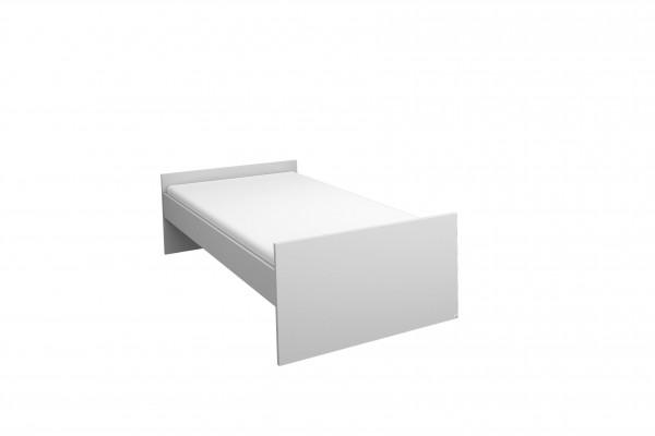 Funktionsbett 90x200cm und 120x200cm alpinweiß oder grau metallic