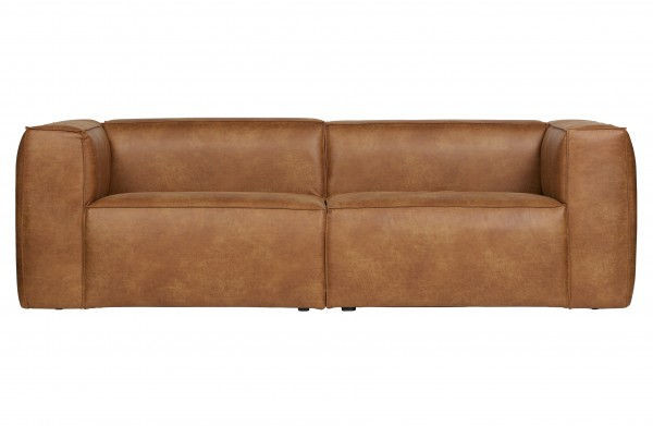 Sofa 3,5 Sitzer Eco Leder Cognac