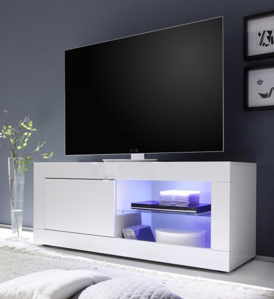 TV Schrank Basic Weiß 140cm von LC Spa