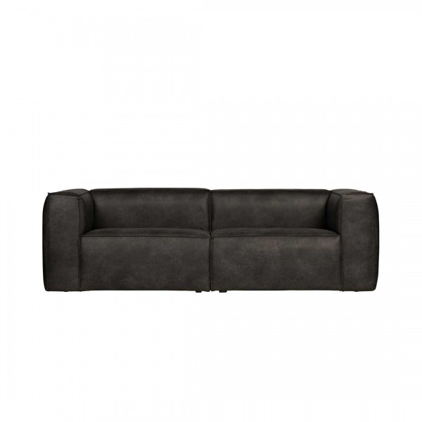Sofa 3,5 Sitzer Eco Leder schwarz