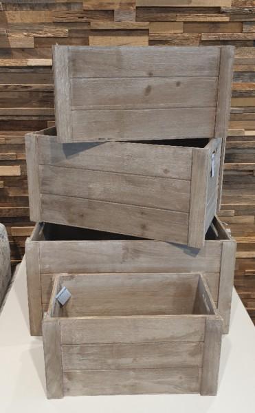 Holzkisten-Holzbox Natural wash verschiedene Größen