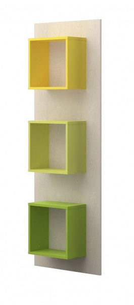 Wandregal 172cm Ahorn/ Trio grün