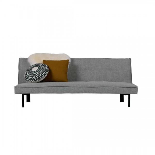 Sofa Bett 178x96cm Lederstoff hell grau