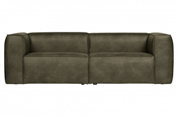 Sofa 3,5 Sitzer Eco Leder Army